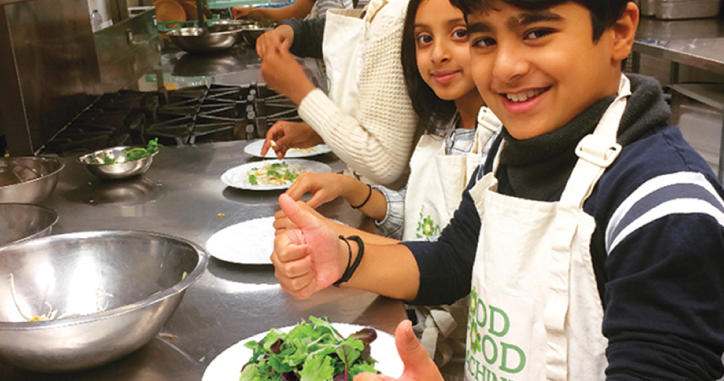 Good Food Machine Student Making Salad