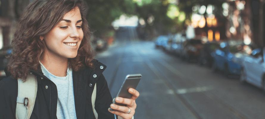Customer Using Retail App