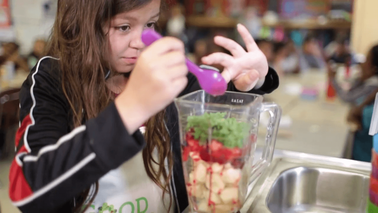 Student Making Smoothie